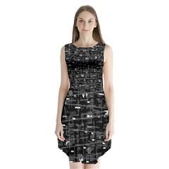 Simple Gray Sleeveless Chiffon Dress