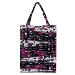 Magenta, white and gray decor Classic Tote Bag
