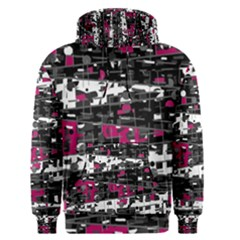 Magenta, white and gray decor Men s Pullover Hoodie
