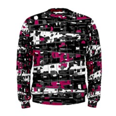 Magenta, white and gray decor Men s Sweatshirt