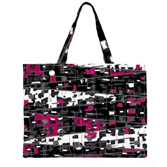 Magenta, white and gray decor Large Tote Bag
