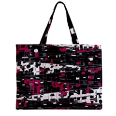 Magenta, white and gray decor Medium Zipper Tote Bag