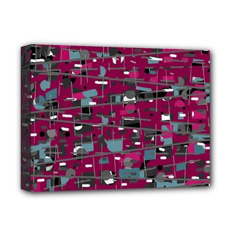 Magenta decorative design Deluxe Canvas 16  x 12