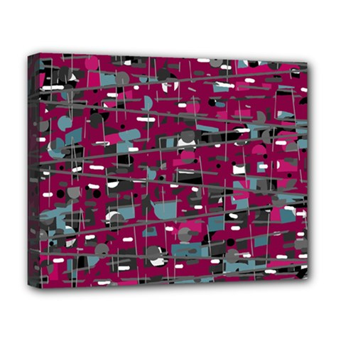 Magenta decorative design Deluxe Canvas 20  x 16