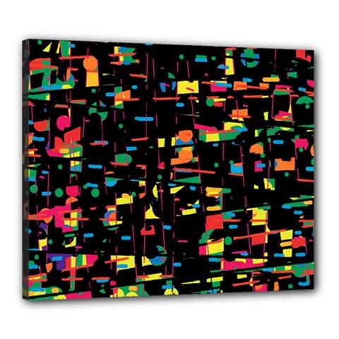 Playful colorful design Canvas 24  x 20