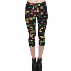 Playful colorful design Capri Leggings