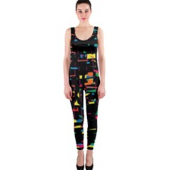 Playful colorful design OnePiece Catsuit
