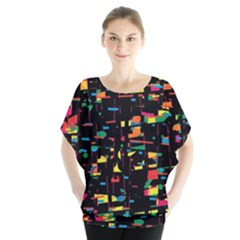Playful Colorful Design Blouse