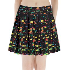 Playful colorful design Pleated Mini Skirt