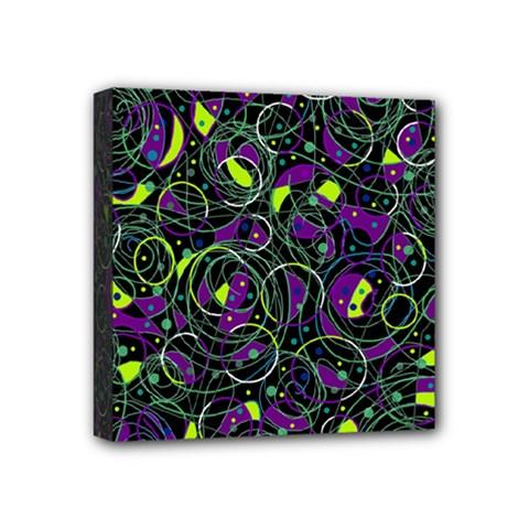 Purple and yellow decor Mini Canvas 4  x 4