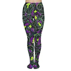 Purple and yellow decor Women s Tights