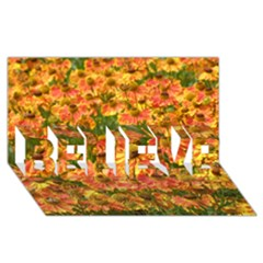 Helenium Flowers And Bees Believe 3d Greeting Card (8x4)