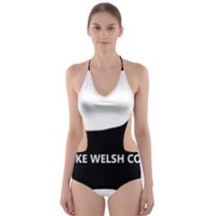 Pembroke Welsh Corgi Silo Name Cut-Out One Piece Swimsuit