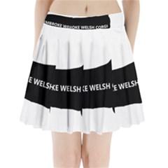 Pembroke Welsh Corgi Silo Name Pleated Mini Skirt