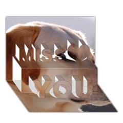 3 Labrador Retriever Miss You 3D Greeting Card (7x5)
