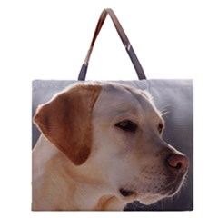 3 Labrador Retriever Zipper Large Tote Bag