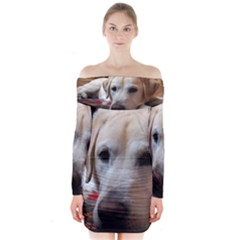2 Yl Laying Long Sleeve Off Shoulder Dress