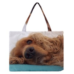 Red English Cocker Spaniel 2 Medium Zipper Tote Bag