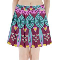 Owl Pleated Mini Skirt