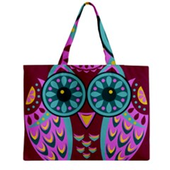 Owl Medium Zipper Tote Bag
