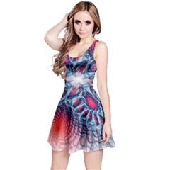 Creative Abstract Reversible Sleeveless Dress