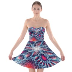Creative Abstract Strapless Bra Top Dress