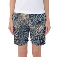 Coral Pattern Women s Basketball Shorts