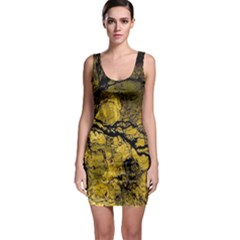 Colorful The Beautiful Of Traditional Art Indonesian Batik Pattern Sleeveless Bodycon Dress