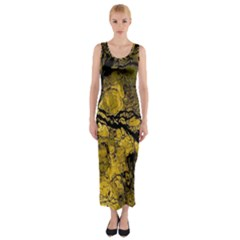 Colorful The Beautiful Of Traditional Art Indonesian Batik Pattern Fitted Maxi Dress