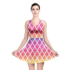 Colorful Rainbow Moroccan Pattern Reversible Skater Dress