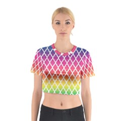 Colorful Rainbow Moroccan Pattern Cotton Crop Top
