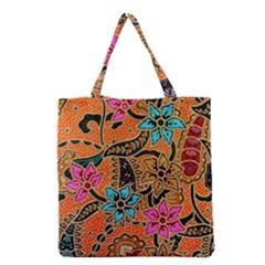 Colorful The Beautiful Of Art Indonesian Batik Pattern  Grocery Tote Bag