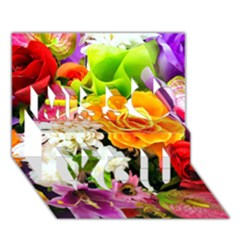 Colorful Flowers Miss You 3D Greeting Card (7x5)