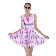 Unicorns & Icecreams In Mallow Wildflower Skater Dress