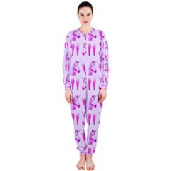 Unicorns & Icecreams In Mallow Wildflower OnePiece Jumpsuit (Ladies)