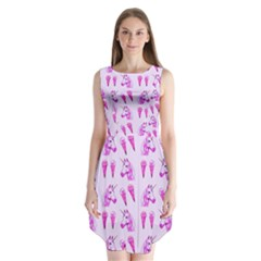 Unicorns & Icecreams In Mallow Wildflower Sleeveless Chiffon Dress