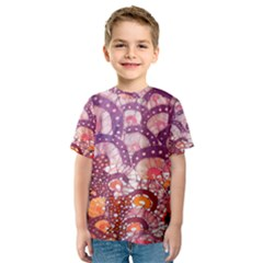 Colorful Art Traditional Batik Pattern Kids  Sport Mesh Tee