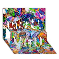 Color Butterfly Texture Miss You 3D Greeting Card (7x5)