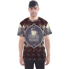 Coffee House Men s Sport Mesh Tee