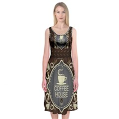Coffee House Midi Sleeveless Dress
