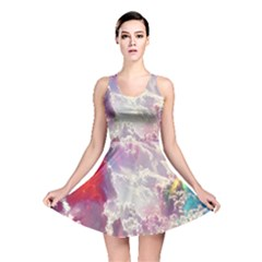 Clouds Multicolor Fantasy Art Skies Reversible Skater Dress