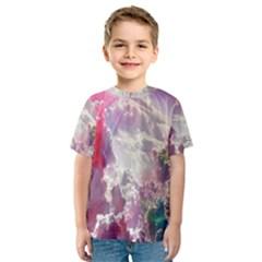 Clouds Multicolor Fantasy Art Skies Kids  Sport Mesh Tee