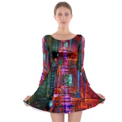 City Photography And Art Long Sleeve Skater Dress
