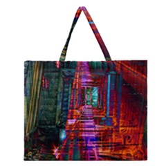 City Photography And Art Zipper Large Tote Bag