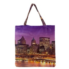 City Night Grocery Tote Bag