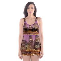 City Night Skater Dress Swimsuit