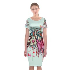 Zombie Unicorn Classic Short Sleeve Midi Dress