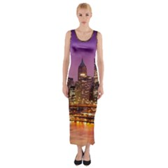 City Night Fitted Maxi Dress