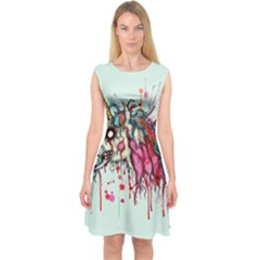 Zombie Unicorn Capsleeve Midi Dress