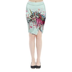 Zombie Unicorn Midi Wrap Pencil Skirt